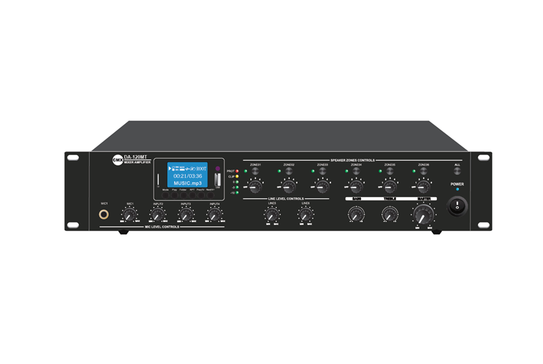 6 Zone Mixer Amplifier with ATT/Mp3/USB/FM/Bluetooth, DA-60MT, DA-120MT,  DA-240MT, DA-350MT, DA-500MT