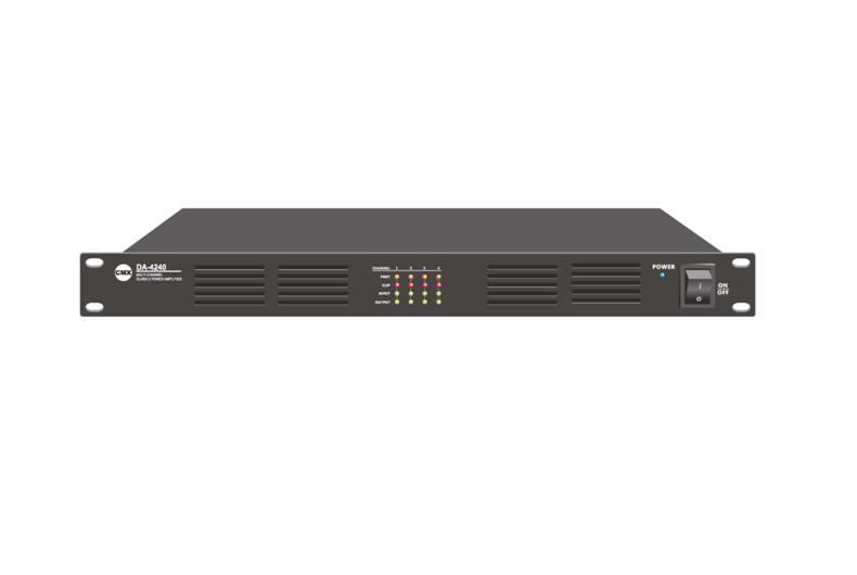 Four Channel Class-D Power Amplifier DA-4060, DA-4120, DA-4240, DA-4350, DA-4500