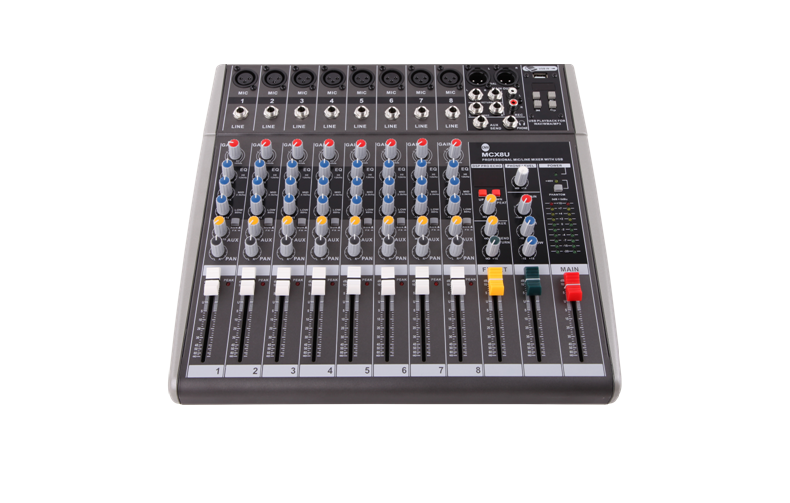 8 Channel Mixing Console MCX8U