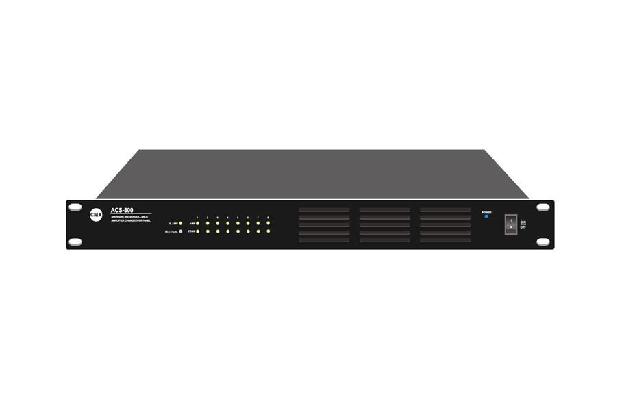 ACS-800 8 Channel Amplifier Fault Changeover with Speaker Line Surveillance